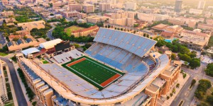 aerial view of Univeristy of Texas football staduim